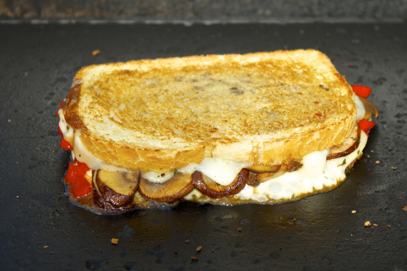 ... , Sauteed Mushroom and Provolone Cheese Grilled Cheese Sandwiches